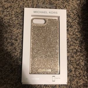 Micheal kors iPhone 7plus gold sparkle case. NWT